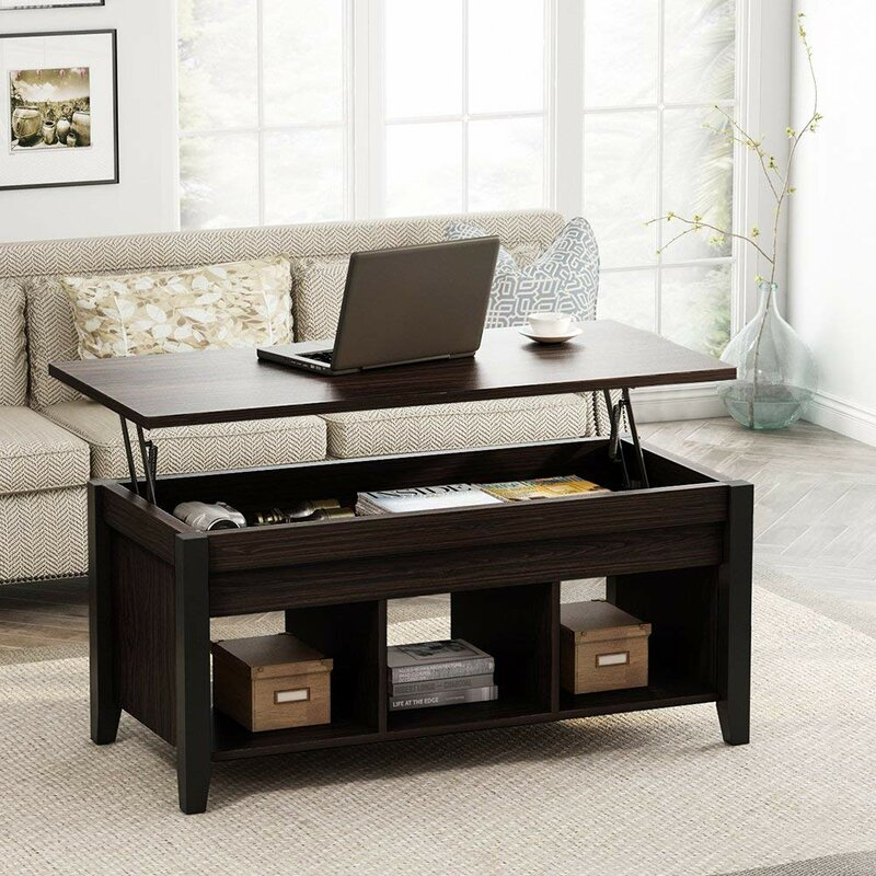 Winston Porter Mosqueda Lift Top Coffee Table with Storage ...