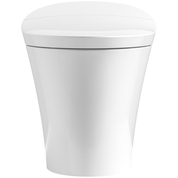 kohler veil intelligent skirted 1piece elongated dualflush toilet u0026 reviews wayfair