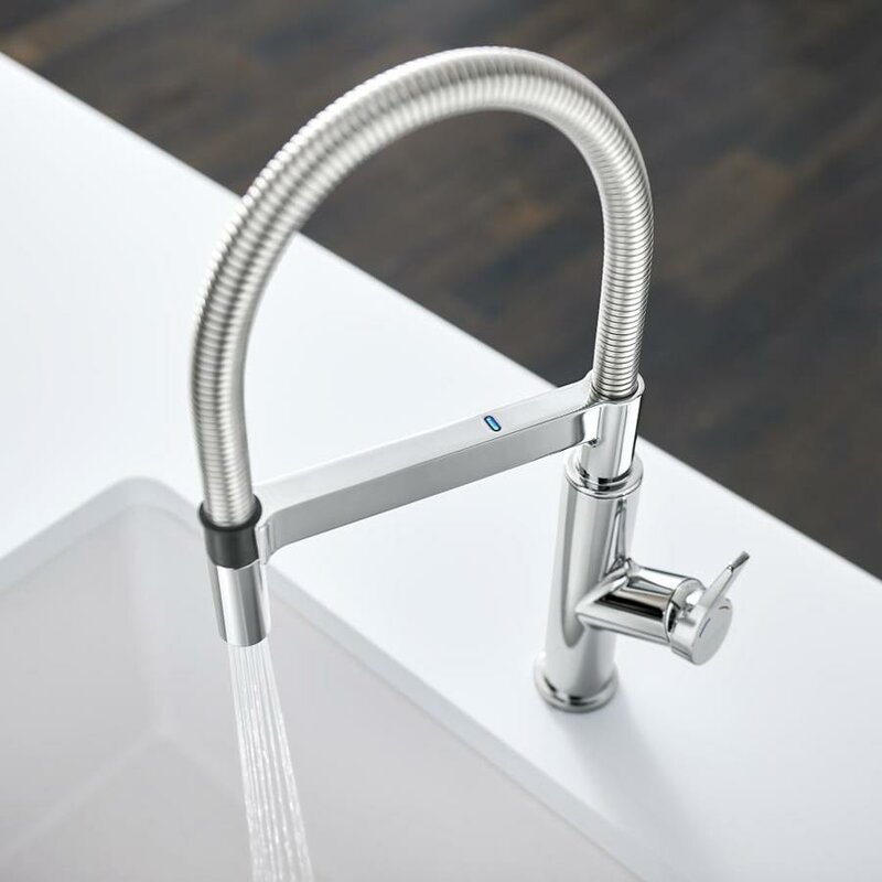 Blanco Solenta Senso Touch Single Handle Kitchen Faucet  Finish: Chrome