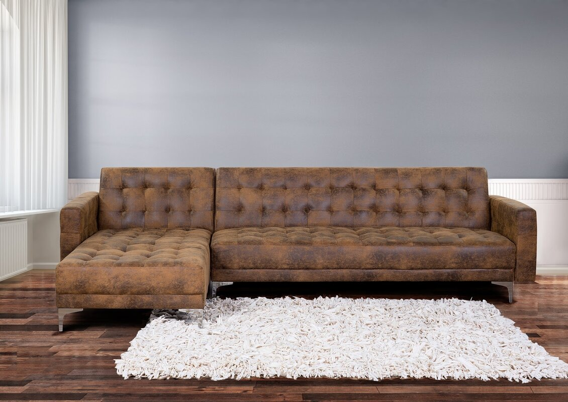 Home Loft Concept Delia Corner Sofa Bed & Reviews