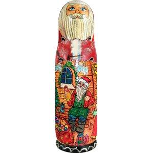 Russia Santa Workshop 1 Bottle Tabletop W..