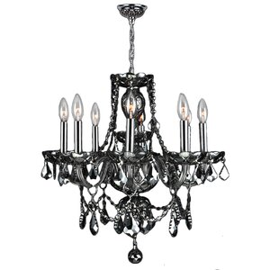 Doggett 8-Light Chain Crystal Chandelier