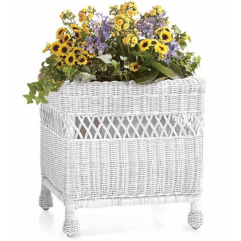 Easy Care Resin Square Wicker Planter Box Joss Main