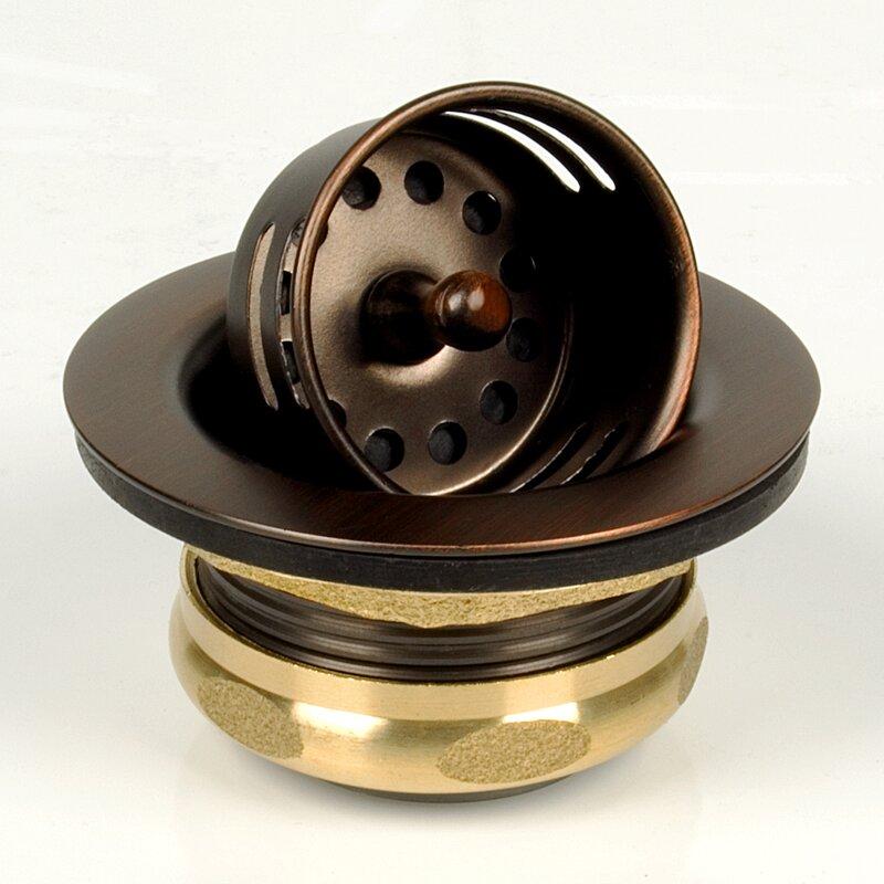 Brass Plumbing 2'' Grid Kitchen Sink Drain