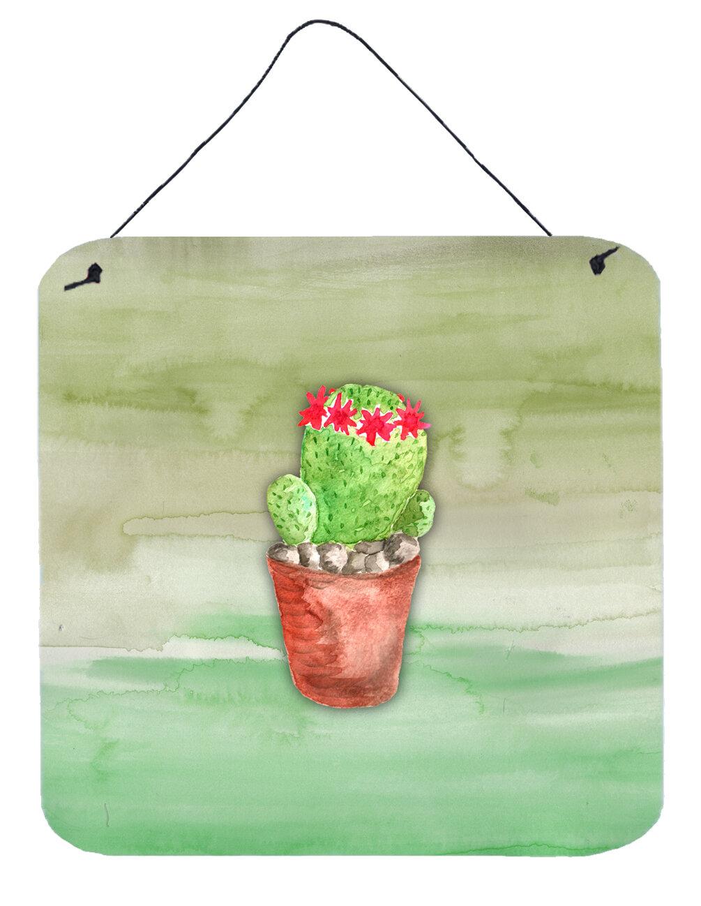 Harriet Bee Cactus Gloss Metal Wall Décor | Wayfair