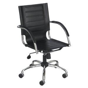 modern genuine leather desk chairs | allmodern