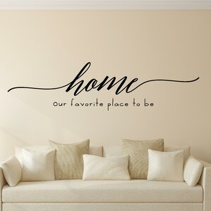 Wonderful Home Our Favorite Place To Be Vinyl Wall Decal Part 16