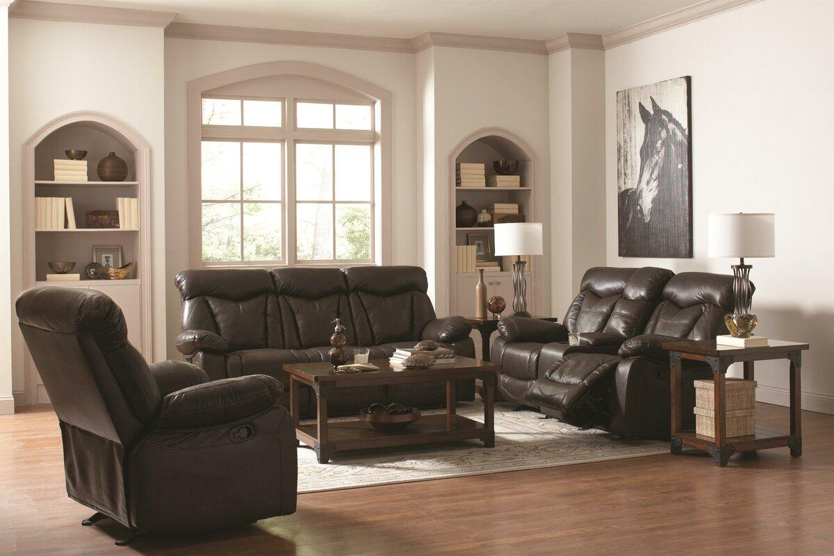 High Quality Loon Peak Pomona Motion Leather Reclining Sofa Reviews Wayfair