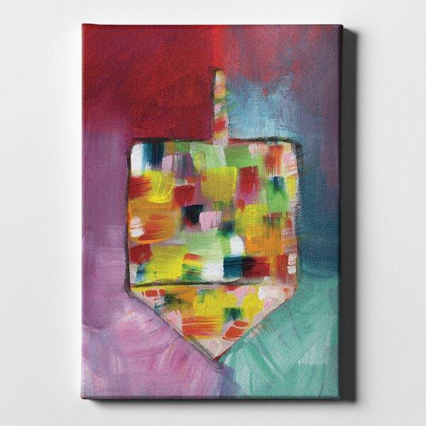 Latitude Run Dreidel Of Many Colors Acrylic Painting Print On