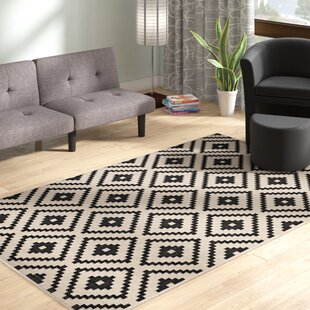 eisen geometric trellis blackbeige indooroutdoor area rug - Outdoor Patio Rugs