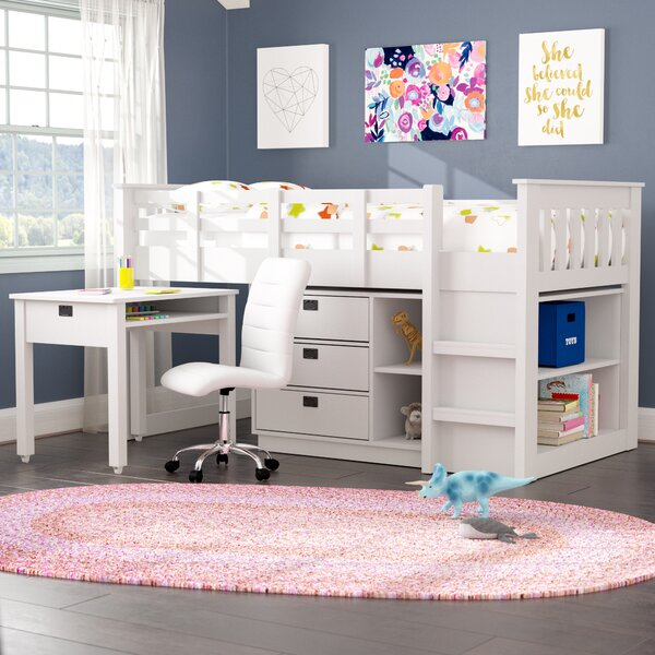 Viv Rae Deion Twin Low Loft Bed With Storage Amp Reviews