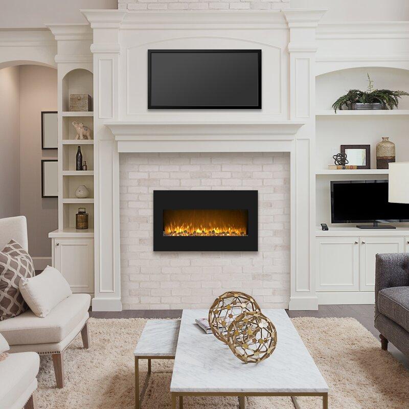 Northwest Flat Wall Mounted Electric Fireplace Reviews Wayfair