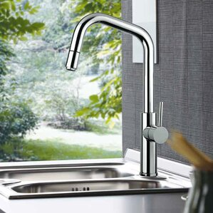 Maestro Bath Mitu Modern Single Handle Pull Out Standard Kitchen Faucet with Mono Shower