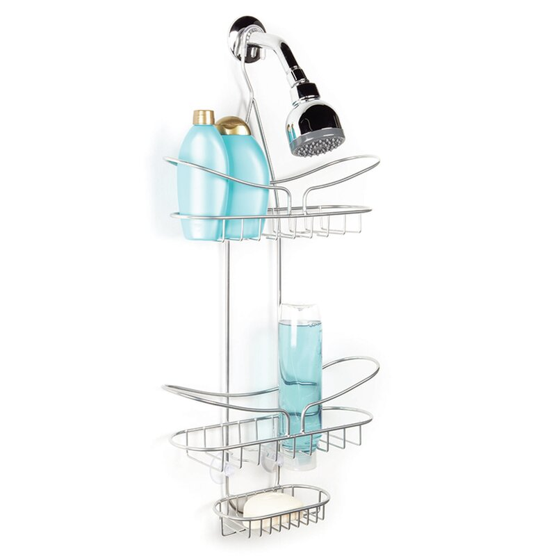 Rebrilliant Leo Over the Shower 2 Tier Deluxe Shower Caddy with Soap ...