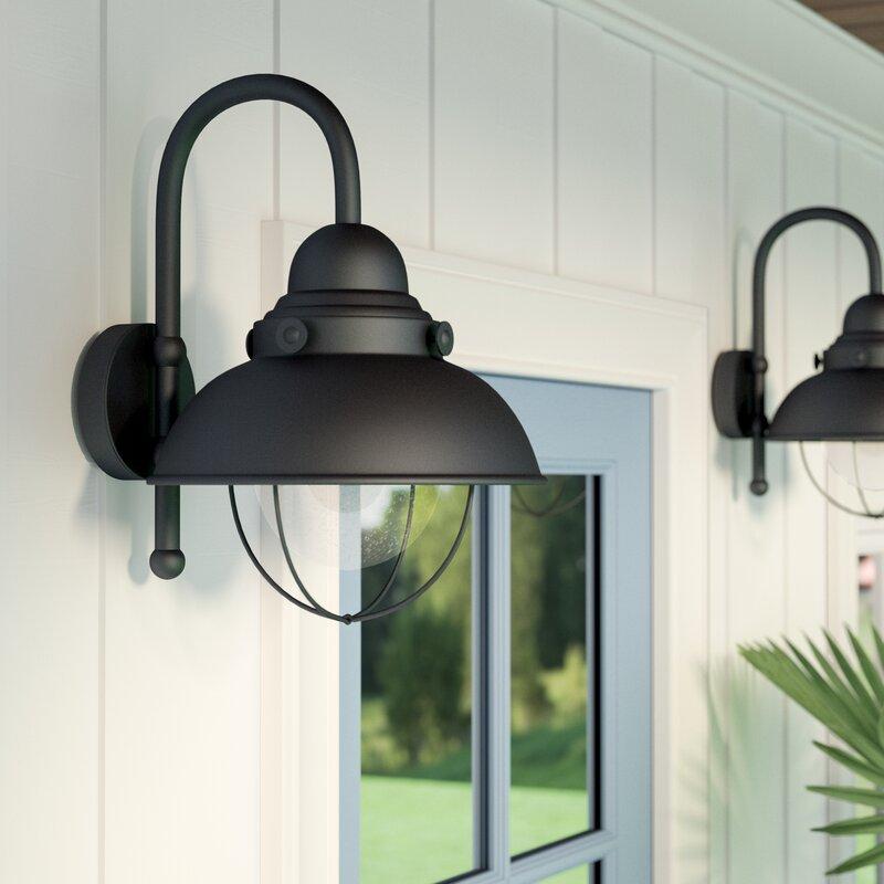 Beachcrest Home Gotha 3 Light Vanity Light Reviews: Beachcrest Home Corbel 1-Light 100W Outdoor Barn Light & Reviews