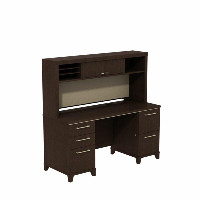 Enterprise Double Pedestal Executive Desk With Hutch