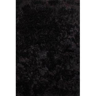 Journee Black Rug by Longweave
