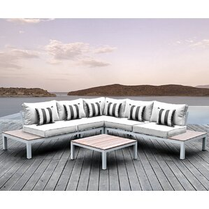 Pulito 4 Piece Deep Seating Group with Cu..