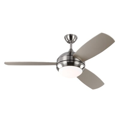 Brayden Studio 52 Lamptrai 3 Blade LED Ceiling Fan with Remote
