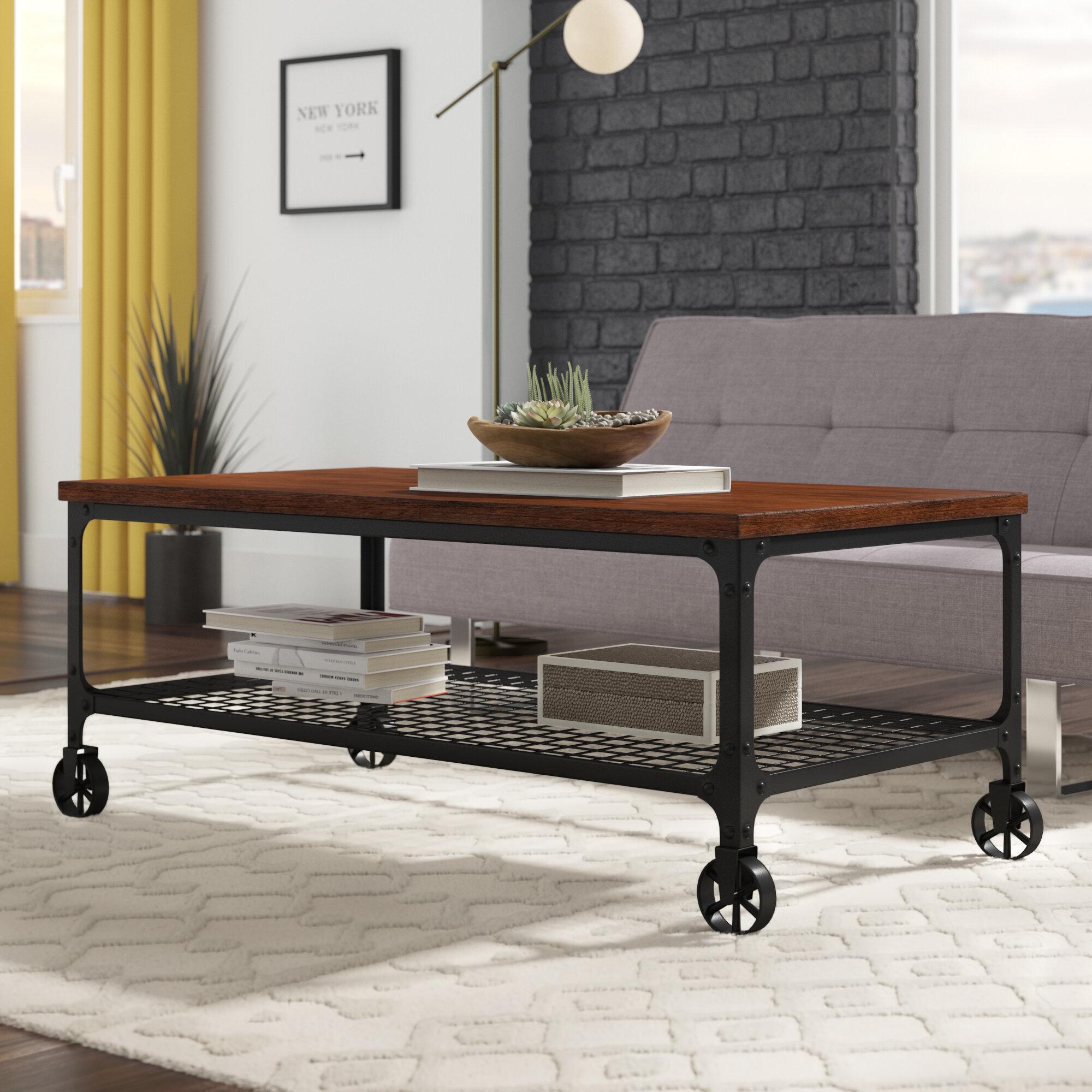 Williston forge alpert industrial coffee table reviews wayfair