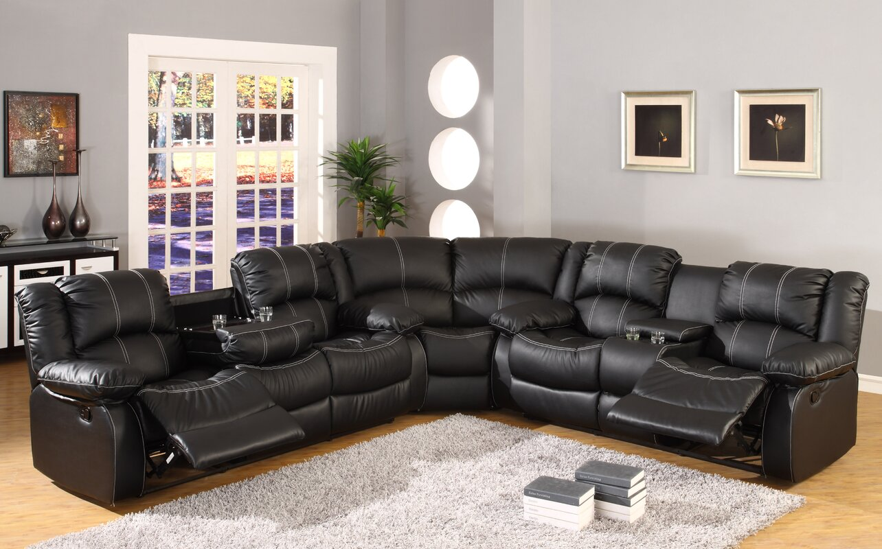 Comfort Reclining Sectional & Ultimate Accents Comfort Reclining Sectional u0026 Reviews | Wayfair islam-shia.org