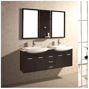 Open Shelf Bathroom Vanity Wayfair - Bathroom vanities with shelves