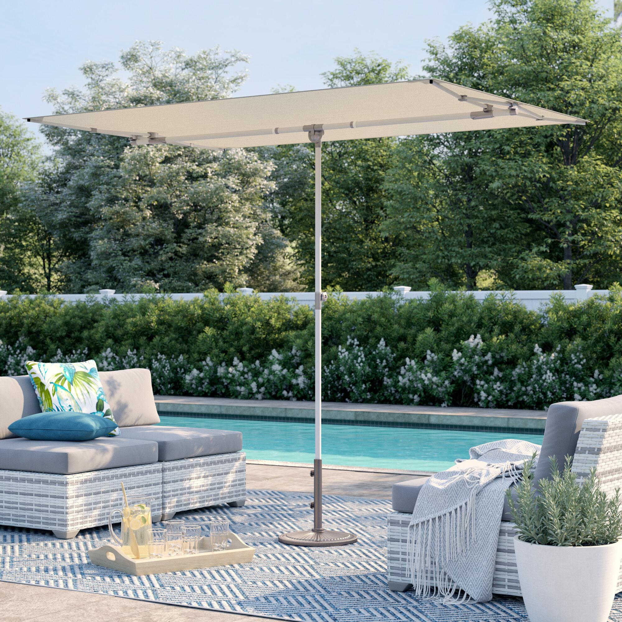 Sol 72 Outdoor Cordelia 5 X 7 Rectangular Market Umbrella Reviews Wayfair
