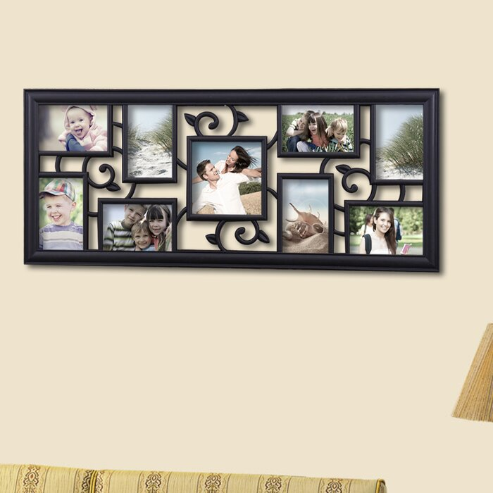 AdecoTrading 9 Opening Decorative Filigree Wall Hanging Collage ...