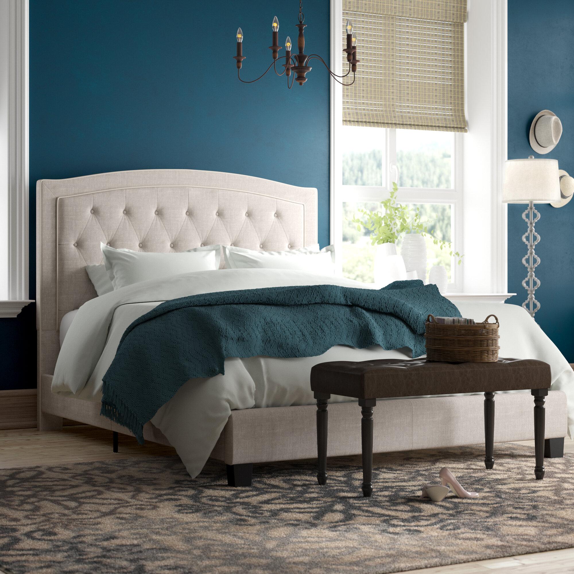 Beau Charlton Home Rockaway Upholstered Panel Bed U0026 Reviews | Wayfair