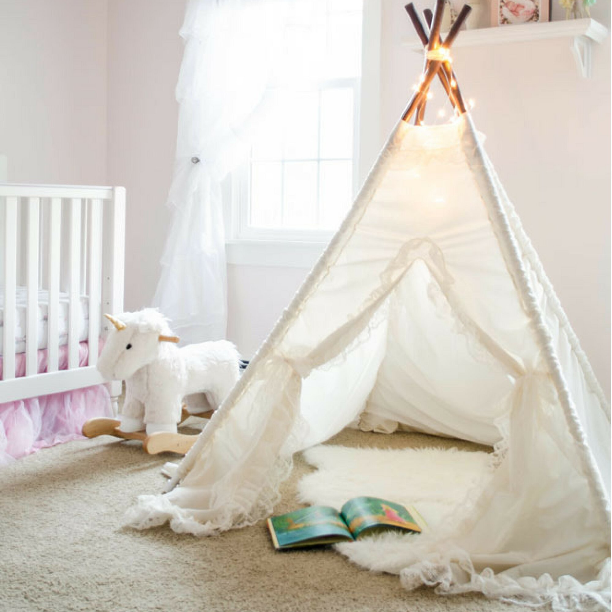 Sugar Shacks Teepees Isabella Pop-Up Play Teepee & Reviews | Wayfair