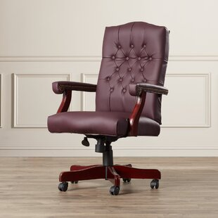 Save : wood and leather office chair - Cheerinfomania.Com