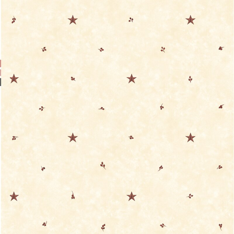 Brewster Home Fashions Pure Country Ross Star Sprig Toss