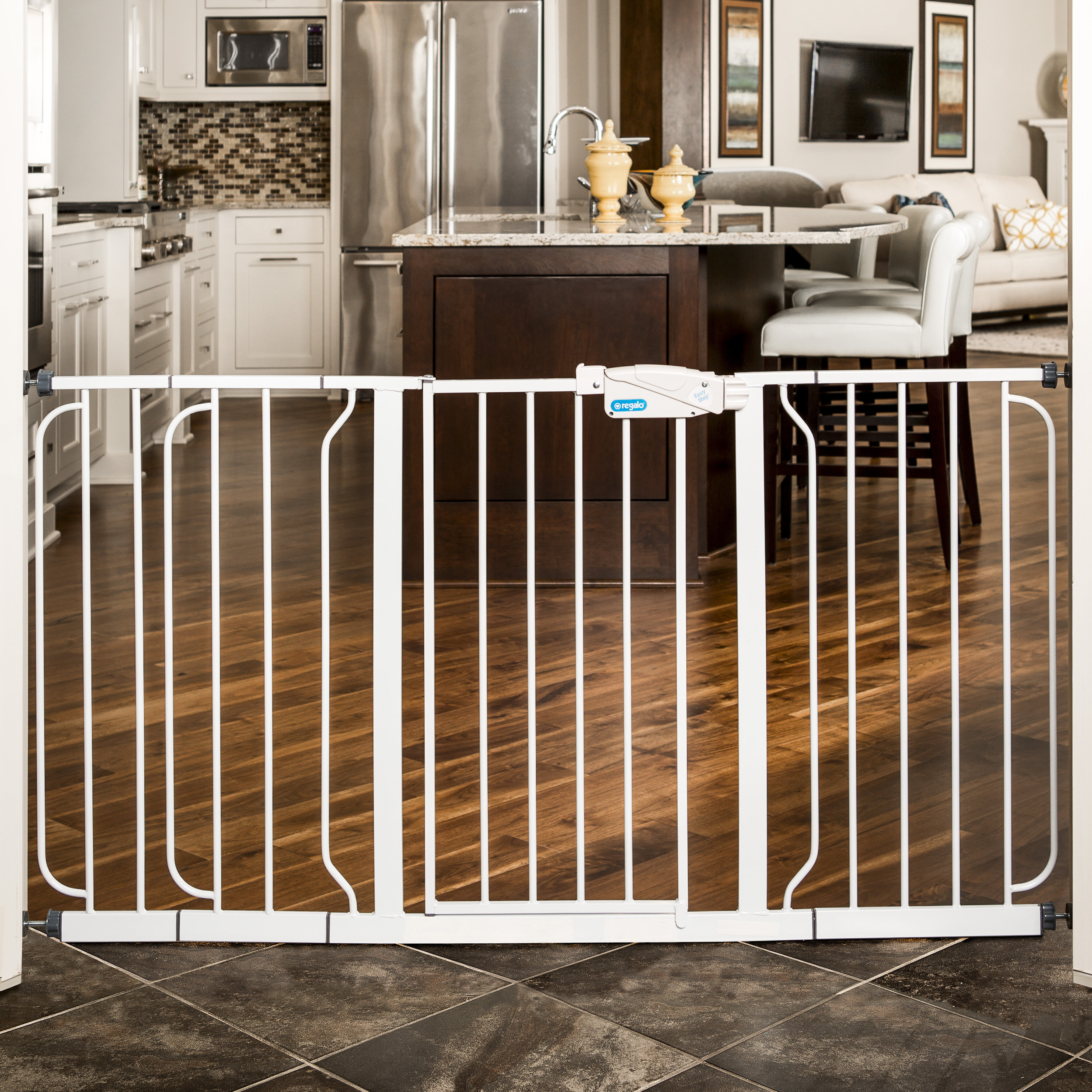 Regalo Extra Wide Span Safety Gate Reviews Wayfair