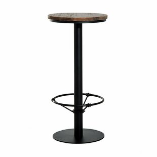 Liesel Bar Height Standing Pub Table with Wood Top