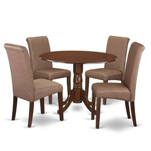Parise Small Table 5 Piece Drop Leaf Solid Wood Breakfast Nook Dining Set Design