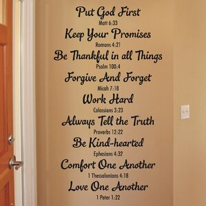 Bible Family Rules Wall Quotes™ Decal