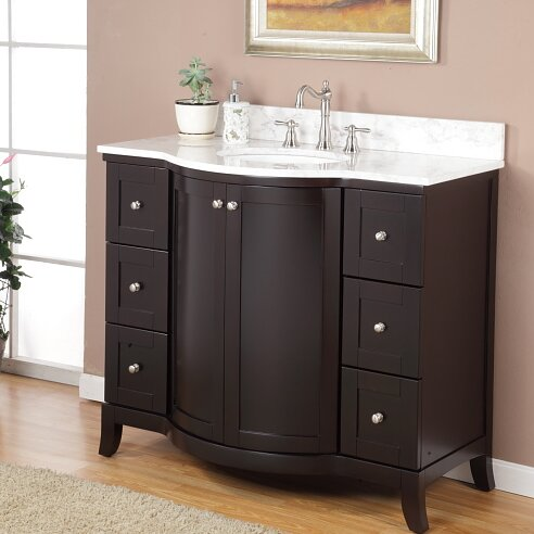 "Bathroom Cabinets On Sale valore astoria 42"" single bathroom vanity set & reviews 
