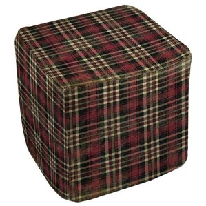 Plaid Ottoman by Manual Woodworkers & Weavers