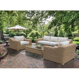 Charmant Charley 4 Piece Sunbrella Sofa Seating Group With Sunbrella Cushions