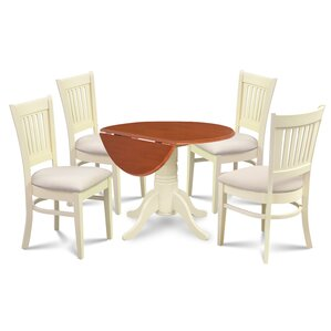 Thornhill Round Carved 5 Piece Dining Set by Alcott Hill