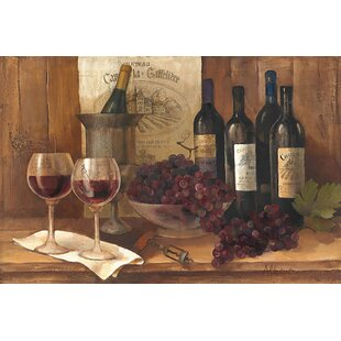 Vintage Wine Graphic Art On Wrapped Canvas