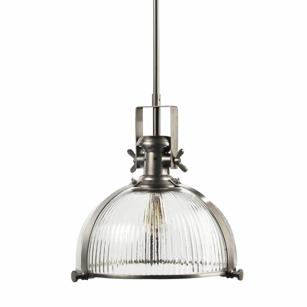 Hudson Valley Lighting Bourne: Brayden Studio Millbourne 1-Light Dome Pendant