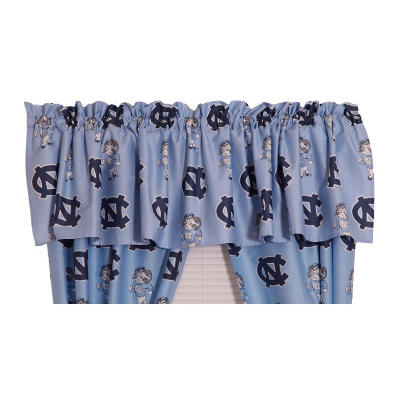 College CoversNCAA UNC Printed Rod Pocket Curtain Valance