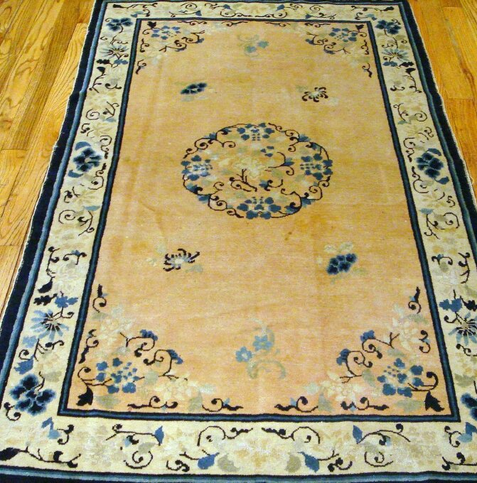 Pasargad Peking Antique Hand Knotted Wool Creamblue Area Rug Perigold