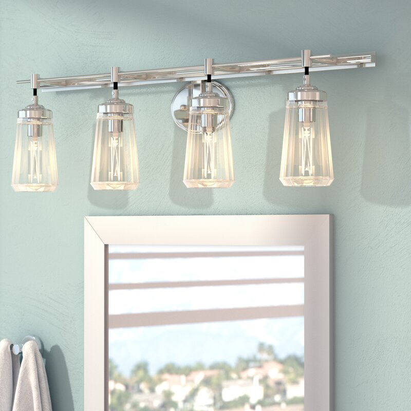 4 light vanity light cage buzard 4light vanity light mercury row reviews wayfair