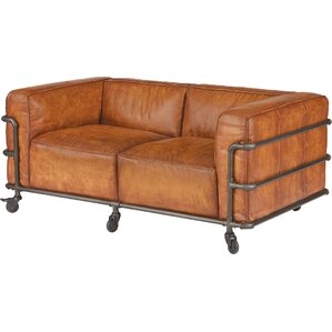 Georgette Leather Loveseat by Trent Austin D..