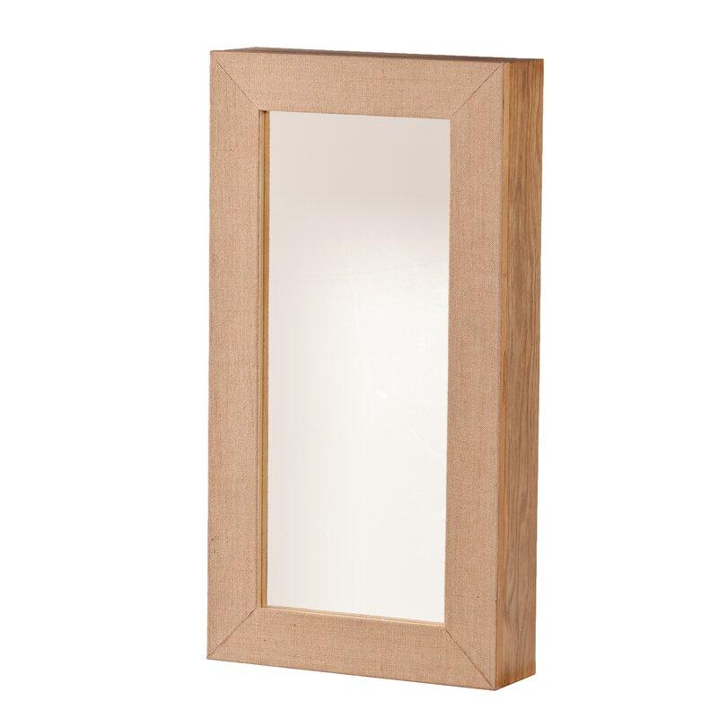 home etc wandmontierter schmuckschrank westby mit spiegel. Black Bedroom Furniture Sets. Home Design Ideas
