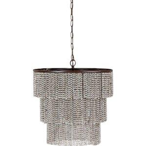 etienne 4light crystal chandelier - Wood Bead Chandelier