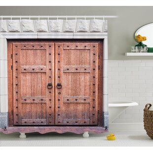 Rustic Antique French Wood Door Shower Curtain