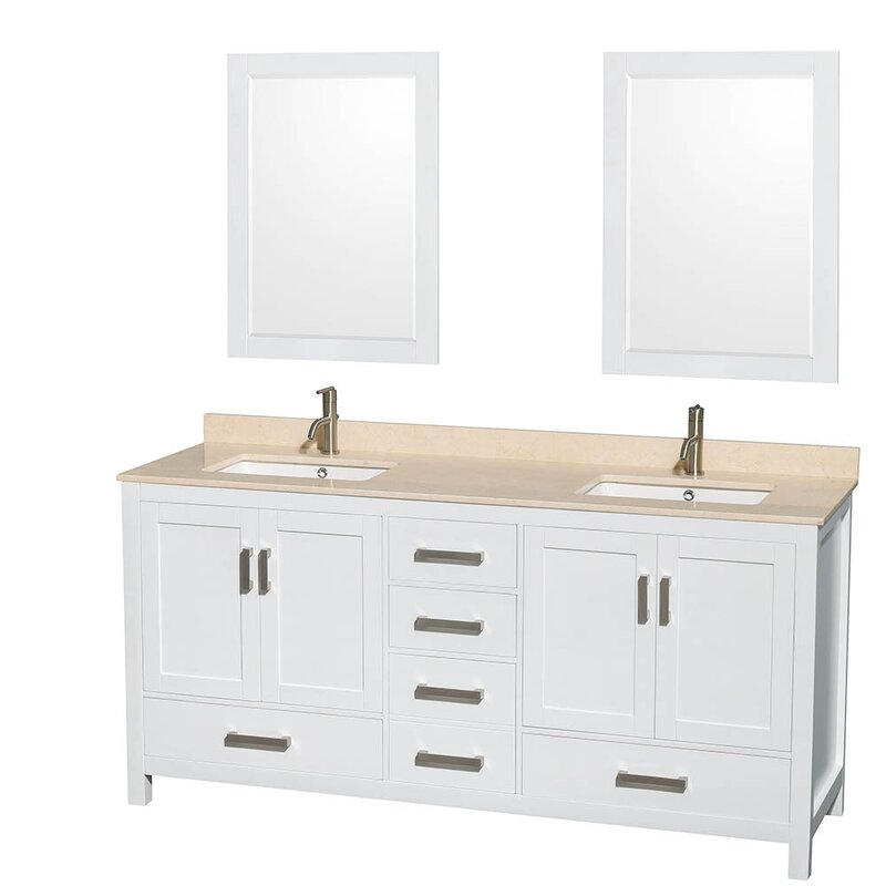 Wyndham Collection Sheffield 72 Double Bathroom Vanity Base Reviews